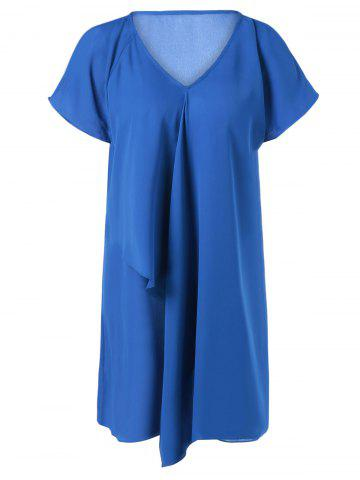 New Raglan Sleeve Overlay Dress