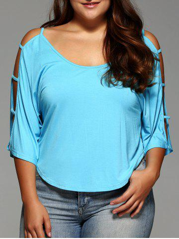 Latest Plus Size Cut Out Sleeve Crop Top