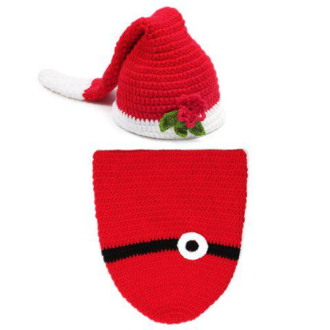 Buy Crochet Photography Father Christmas Knitted Baby Clothes Set