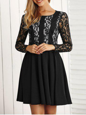Chic Long Sleeve Lace A Line Dress