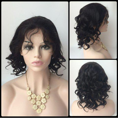 Sale Short Side Bang Loose Wave Lace Front Real Natural Hair Wig