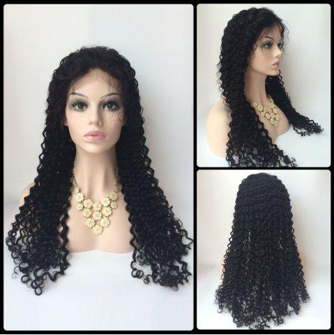 Discount Long Deep Wave Lace Front Real Natural Hair Wig