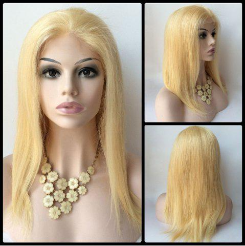 Cheap Long Straight Sparkling Lace Front Real Natural Hair Wig