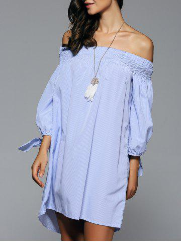 Fashion Off-The-Shoulder Bowknot High Low Dress