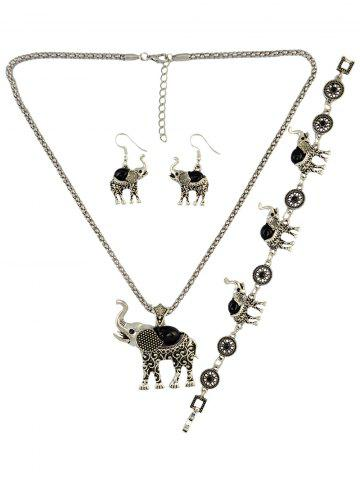 Cheap Faux Gem Elephant Necklace Set
