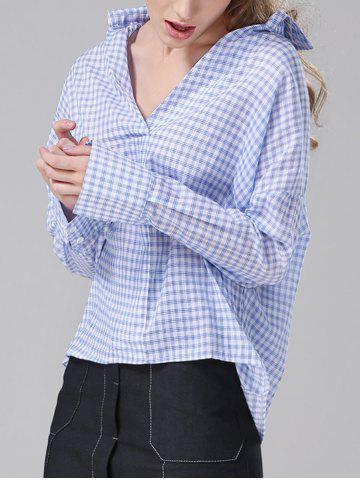 Best Plaid Loose-Fitting Blouse