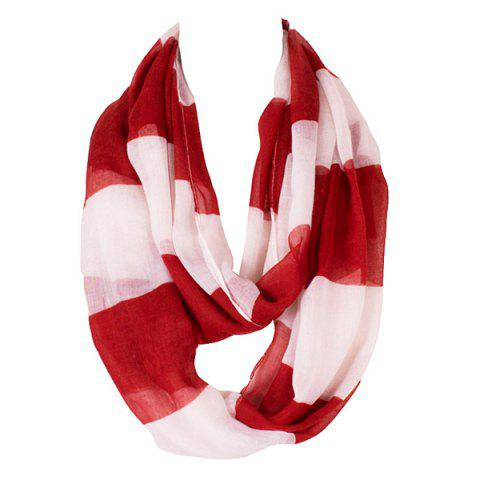 Motif Chic Color Block Stripe Scarf Voile