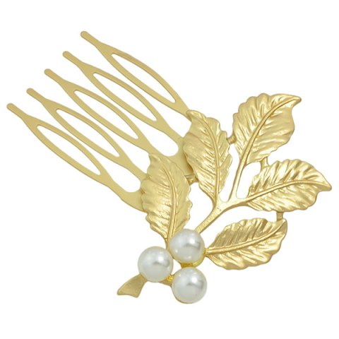 Outfit Alloy Faux Pearl Hair Accessory - GOLDEN  Mobile
