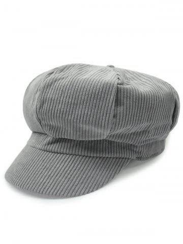 Outdoor Keep Warm Corduroy Newsboy Hat - GRAY