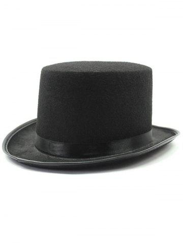 Store Turnup Brim Magic Felt Top Costume Hat BLACK