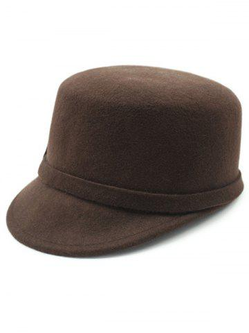 Fancy Keep Warm Wool Bowknot Flat Top Equestrian Hat - COFFEE  Mobile