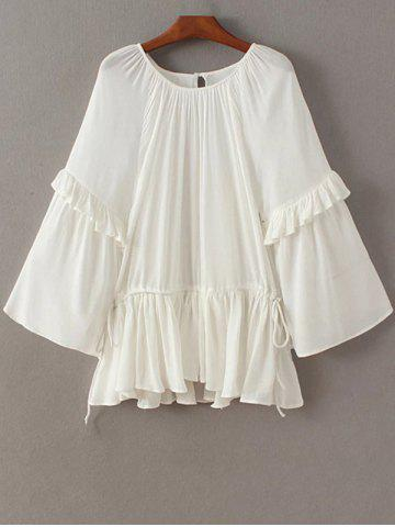 White Blouse With Round Collar 54