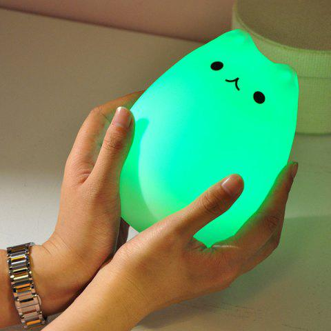 Fashion USB Charging Cat Cartoon LED Colorful Night Light - COLORFUL  Mobile