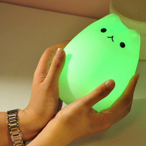 Fancy USB Charging Cat Cartoon LED Colorful Night Light - COLORFUL  Mobile