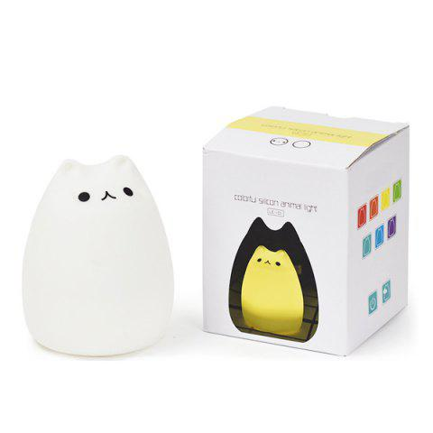 Hot USB Charging Cat Cartoon LED Colorful Night Light - COLORFUL  Mobile