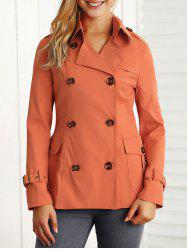 Poches minceur Double-breasted Jacket - Douce Orange L