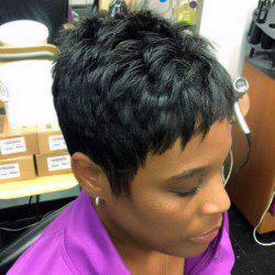 Boy Cut Real Natural Hair Capless Ultrashort Wig