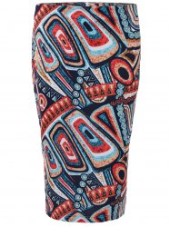 High Waist Hidden Zipped Printed Skirt -