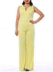 Sleeveless Metallic Trumpet Jumpsuit