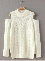 Cut Out Cold Shoulder Sweater -