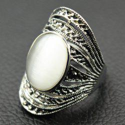 Faux Opal Hollowed Ring