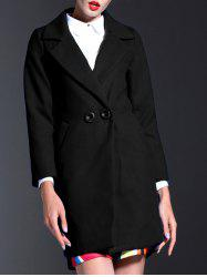 Lapel Slim Coat With Pockets -