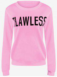 Preppy Style Letter Loose Fit Sweatshirt