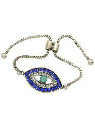 Alloy Rhinestone Eye Shape Bead Bracelet