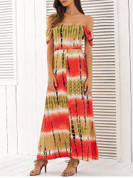 Off The Shoulder High Waist Maxi Dress -