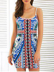 Printed Bodycon Mini Dress -