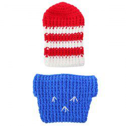Crochet Baby Photography Soldier Knitted Baby Clothes Set -