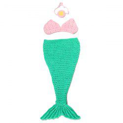 Photography Prop Mermaid Tail Costume Hand Knitted Baby Blankets