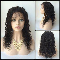 Long Side Bang Water Wave Lace Front Real Natural Hair Wig