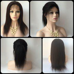 Gorgeous Long Yaki Straight Side Bang Lace Front Real Natural Hair Wig