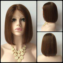 Short Side Parting Straight Bob Haircut Lace Front Real Natural Hair Wig