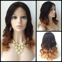 Long Centre Parting Wavy Double Color Lace Front Real Natural Hair Wig