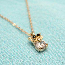 Owl Shape Rhinestone Necklace