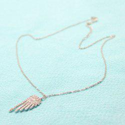 Shiny Rhinestone Angel Wing Necklace