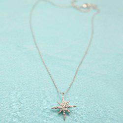 Rhinestone Zircon Star Shape Pedant Necklace