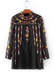 Floral Embroidered Textured Blouse