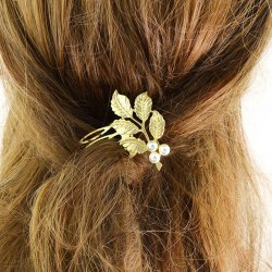 Alloy Faux Pearl Hair Accessory