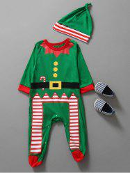 Christmas Clothes Kids Jumpsuit - GREEN