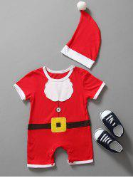 Christmas Clothes Santa Claus Outfits Kids Romper - RED