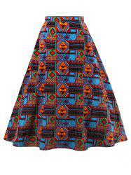 African Print A-Line Skirt - COLORMIX