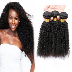 3 Pcs 7A Virgin Jerry Curly Indian Hair Weaves -