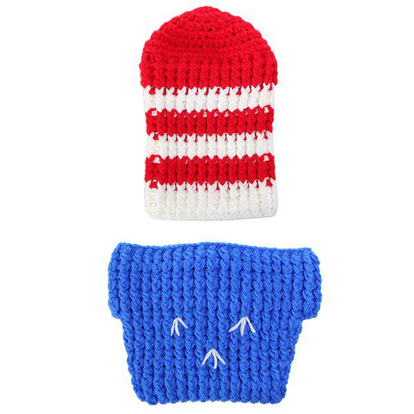 Shops Crochet Baby Photography Soldier Knitted Baby Clothes Set