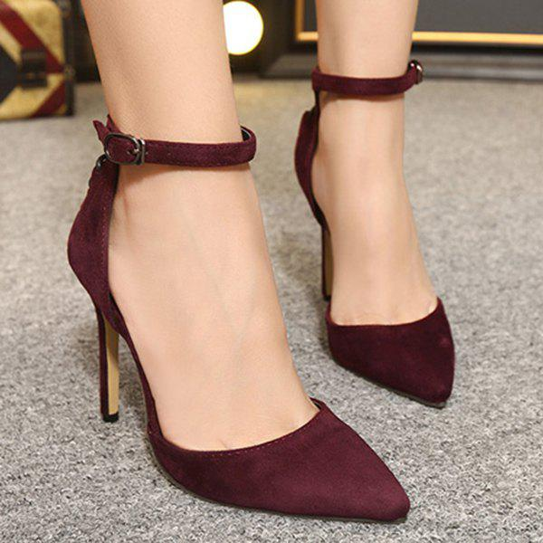 Unique Suede Two-Piece Criss-Cross Pumps