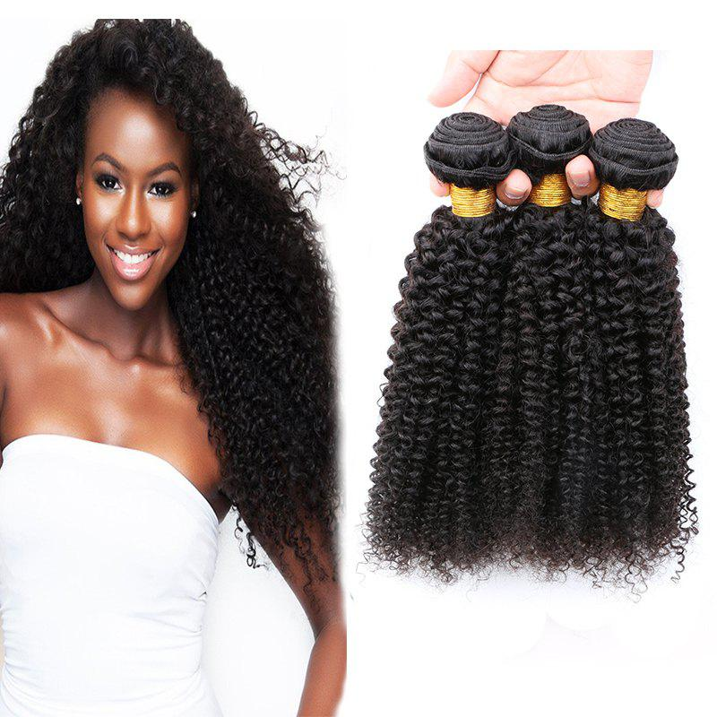 Best 3 Pcs 7A Virgin Jerry Curly Indian Hair Weaves