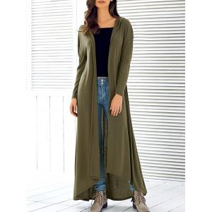Hooded Maxi Long Duster Cardigan