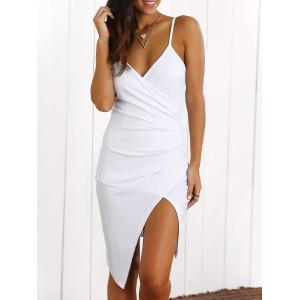 Surplice Slit Cami Club Dress
